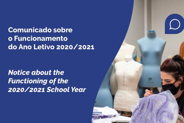 Comunicado sobre o ano letivo 2020/2021 | Notice about the School Year 2020/2021